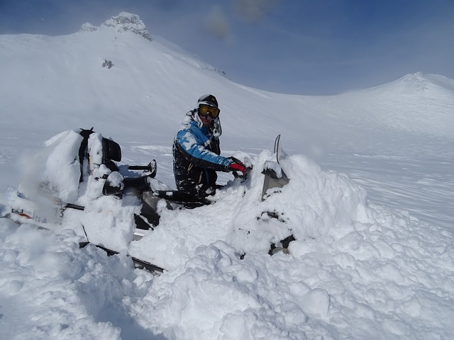 Can snowmobile get stuck