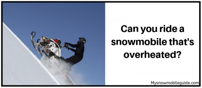 Snowmobile overheating