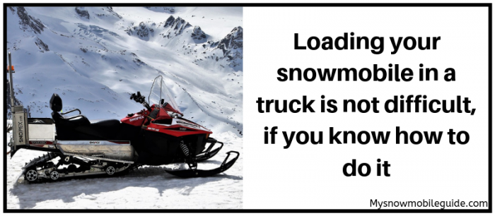 Loading your snowmobile in a truck