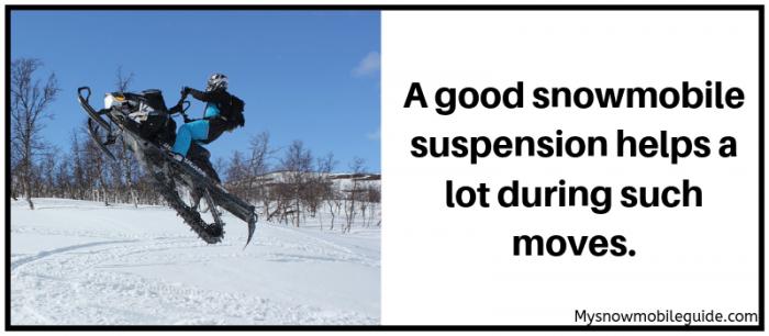 Snowmobile suspension