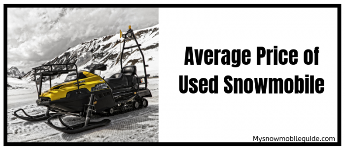 average price of used snowmobiles