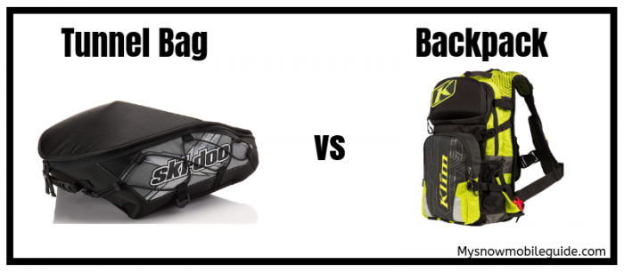 Snowmobile Tunnel Bag vs Backpack