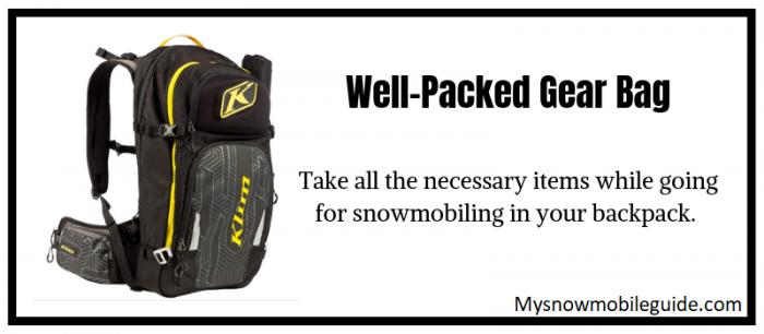 gear bag for snowmobiling women