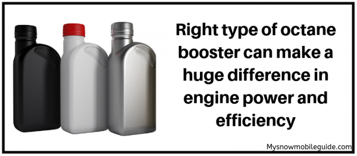 Octane booster for snowmobiles