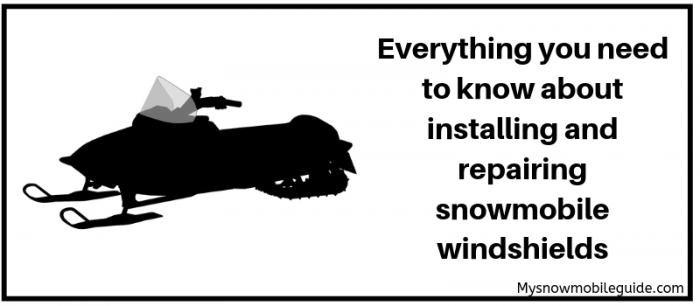 install snowmobile windshields