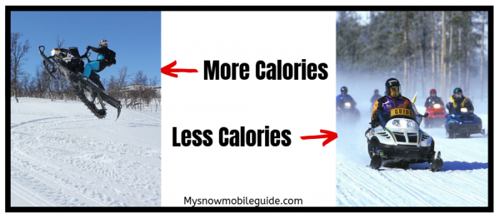 How snowmobiling can burn more calories