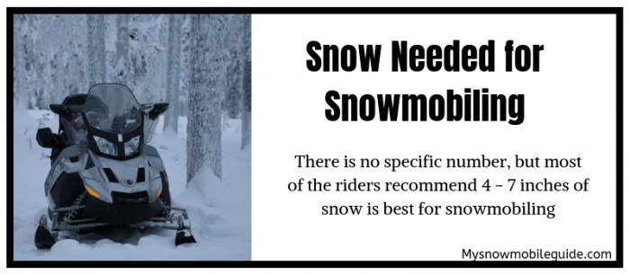 Snow Requirement to Ride a Snowmobile