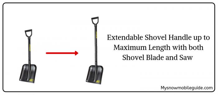 Klim Shovel with Extendable Handle