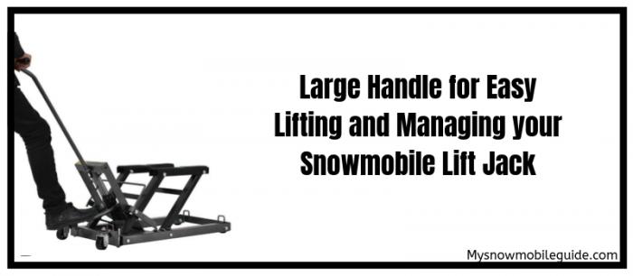 Large handles of Goplus snowmobile jack lift
