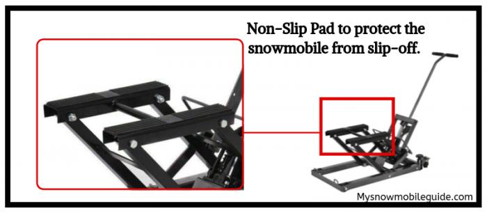 Non-Slip Pad Requirement in Snowmobile lift