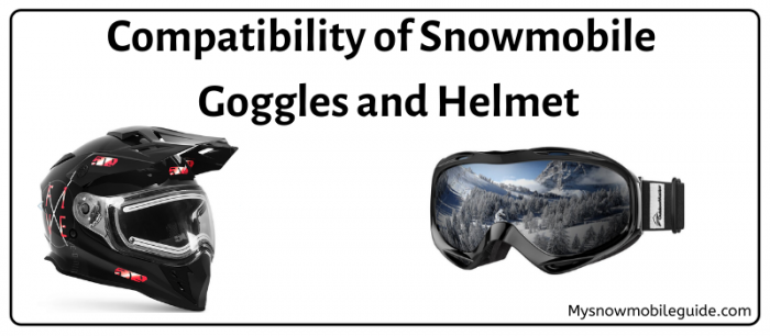 Snowmobile Goggles with Helmet