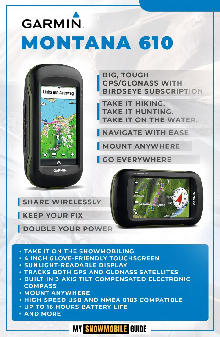Garmin Montana 610 Specifications Infographic