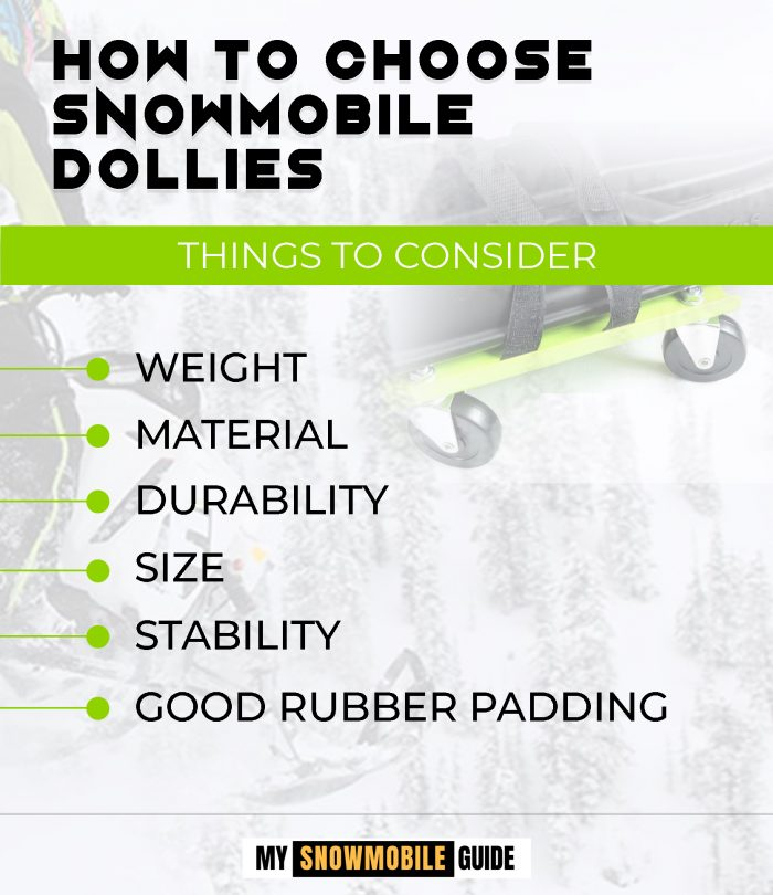 Buying Snowmobile Rollers and Dolly Set