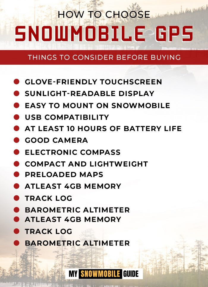 Buying Guide for Snowmobile GPS