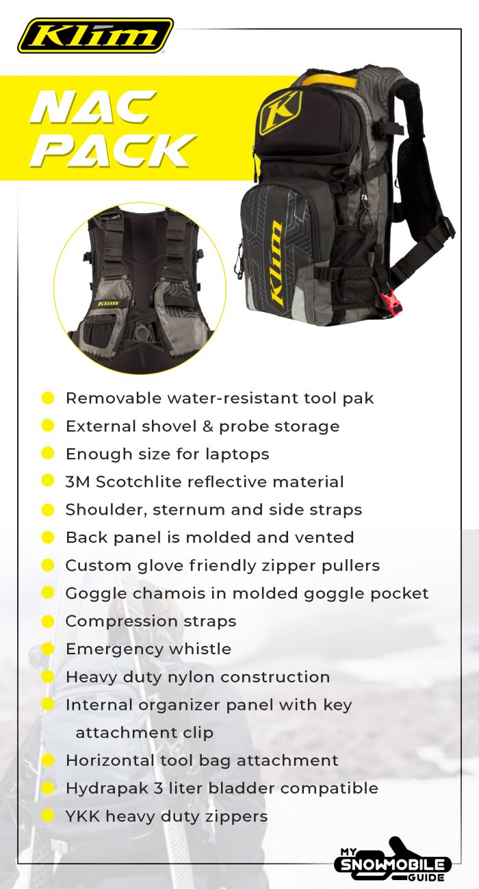 Snowmobile Backpack