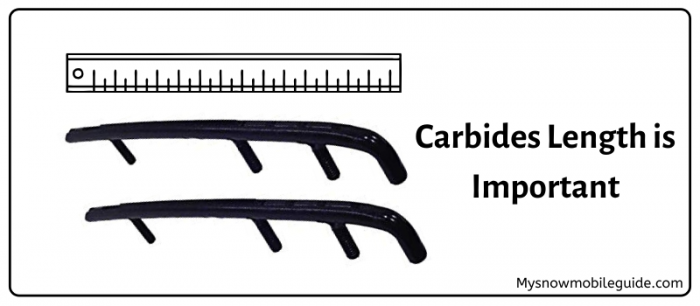Carbides length for snowmobile skis