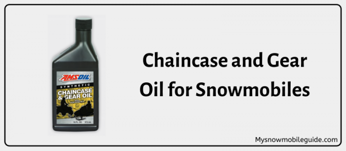 Oil for Snowmobile Chaincase