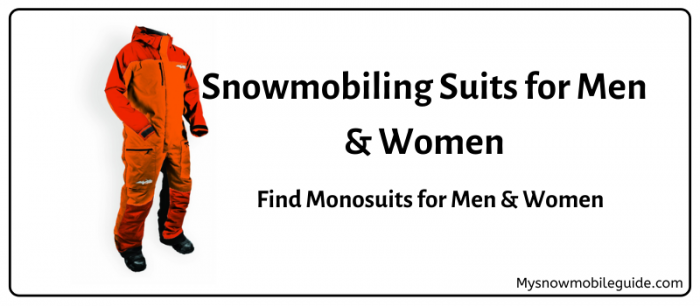 Best snowmobiling suits for men and women