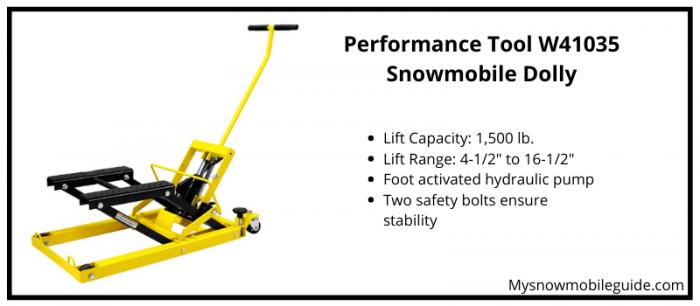 snowmobile hydraulic lift