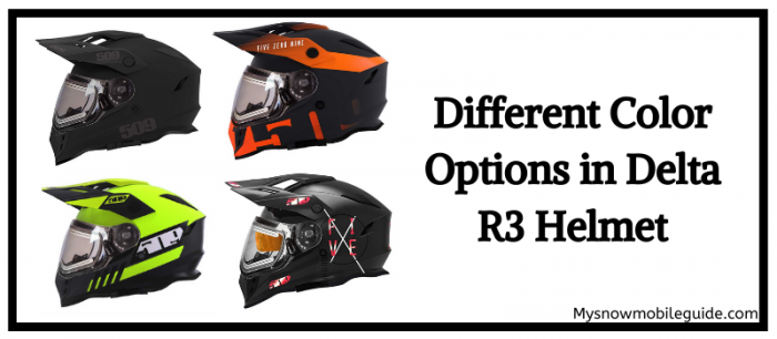 Color options in 509 R3 Helmet