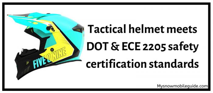Safety standards of 509 Tactical helmet