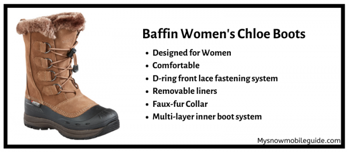 Baffin Chloe Boots for Snowmobiling