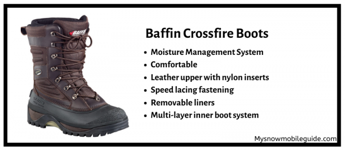 Baffin Crossfire boots for snowmobilers