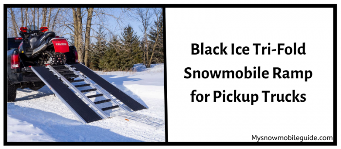 Black Ice Snowmobile Ramp for Pickup Trucks