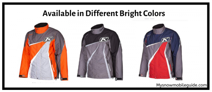 Bright color snowmobiling jackets