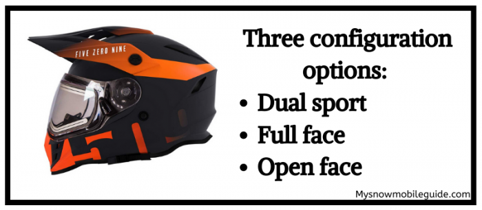 Open face, full face, and dual sport Delta R3 Helmet