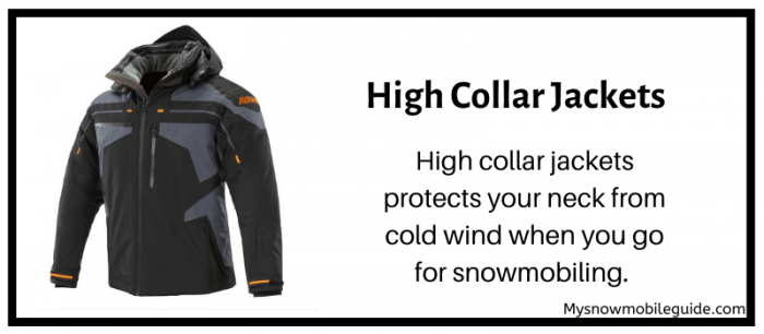 High collar snowmobile jackets