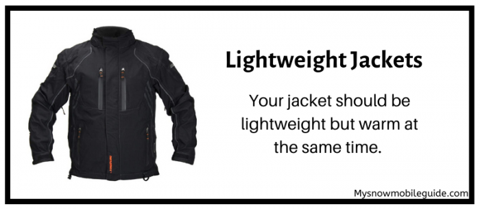 heavy vs Lightweight snowmobile jackets