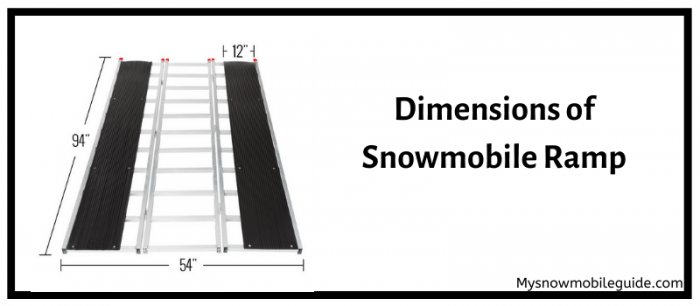 Dimensions of Snowmobile Loading Ramp