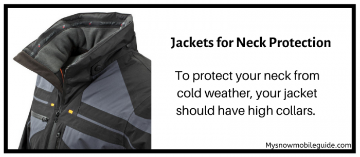 Neck protection required in snowmobiling jackets