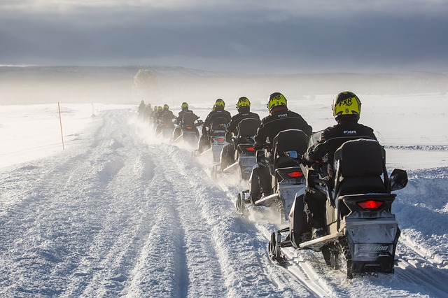 Snowmobiles for ice fishing