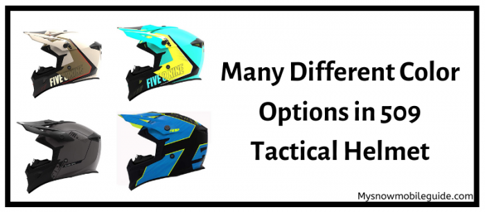 Color options in 509 Tactical Snowmobile Helmet