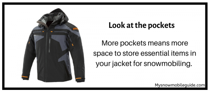 Multiple pockets required in snowmobile jackets
