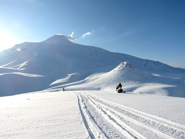 good weather for snowmobiling