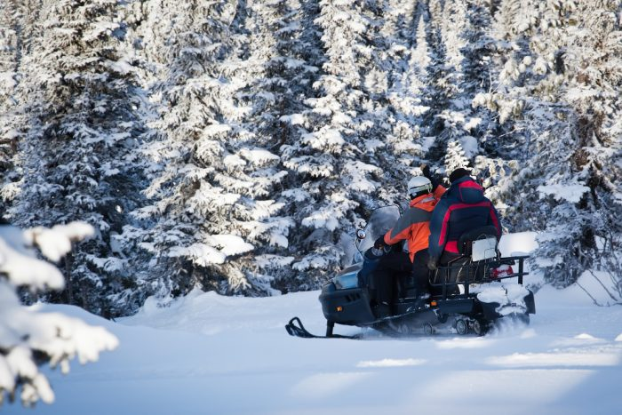 load snowmobile without ramp